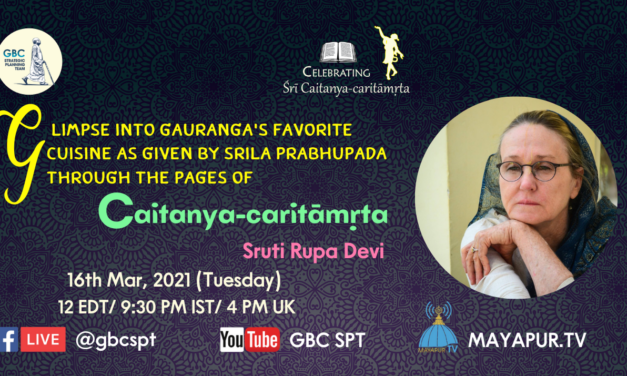 Glimpse into Gauranga's favorite cuisine given by Srila Prabhuapda through the pages of Caitanya-caritāmṛta