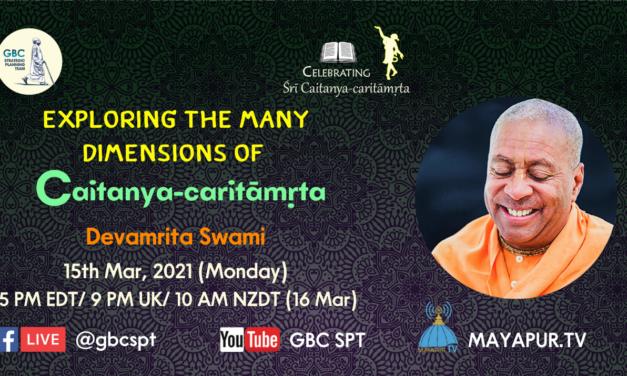 Exploring the many dimensions of Caitanya-caritāmṛta