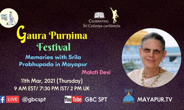 Gaur Purnima Festival memories with Srila Prabhupada in Mayapur