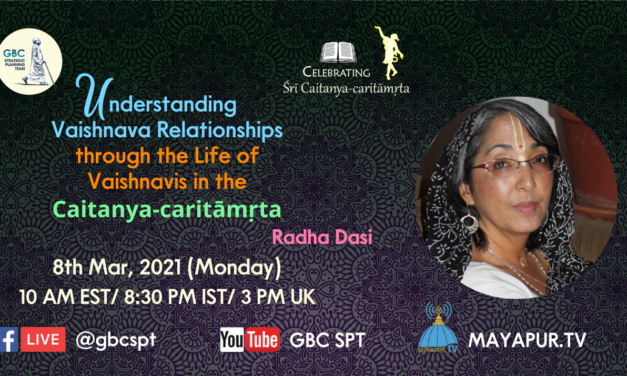 Understanding Vaishnava relationships through the life of Vaishnavis in the CC