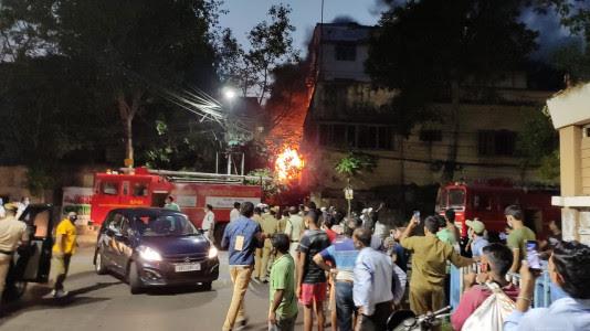 Fire at Kolkata Temple
