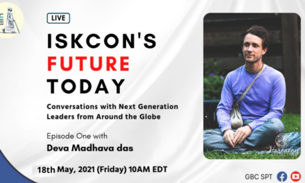 ISKCON's Future Today: Conversation with next generation leaders: Deva Madhava Das